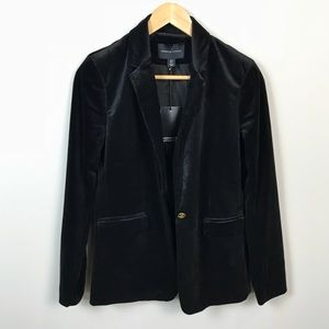 Adrienne Vittadini Black Velour Blazer